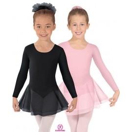 Costum balet cu fusta atasata , maneci lungi